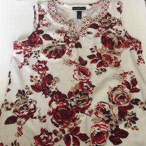 Karen Scott dressy sleeveless top
